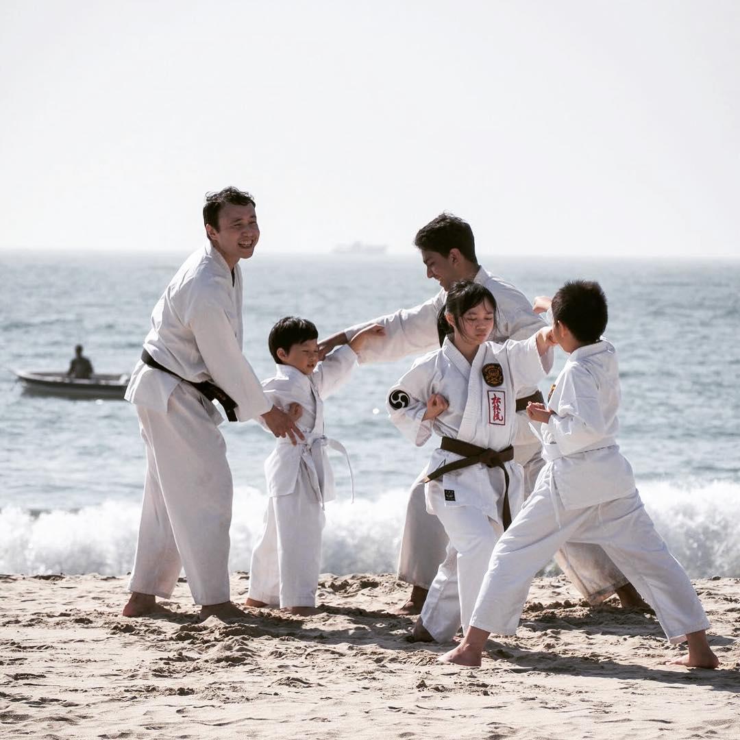 HK winter beach nothing like some karate training to celebratehellip